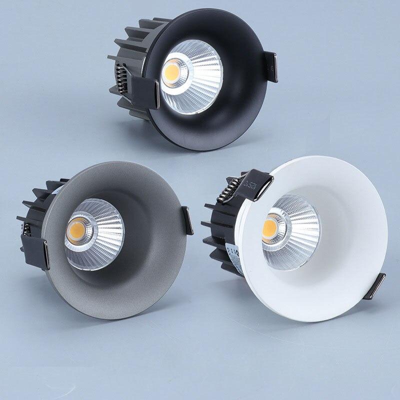 Супер яркий Встраиваемый светодиодный светильник COB с регулируемой яркостью 7 Вт 9 Вт 12 Вт, светодиодный точечные потолочные светильники, светодиодный потолочный светильник с 3 цветами|Полочные светильники|   | АлиЭкспресс