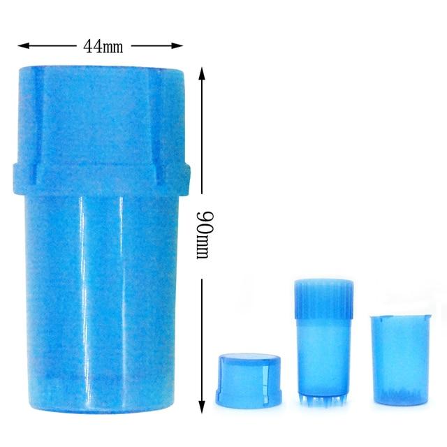 1Pcs 4 Color Plastic Grinder 40mm Diameter Tobacco Herb Crusher Storage Case Box Grinders Smoke Pipe Cigarette Accessories