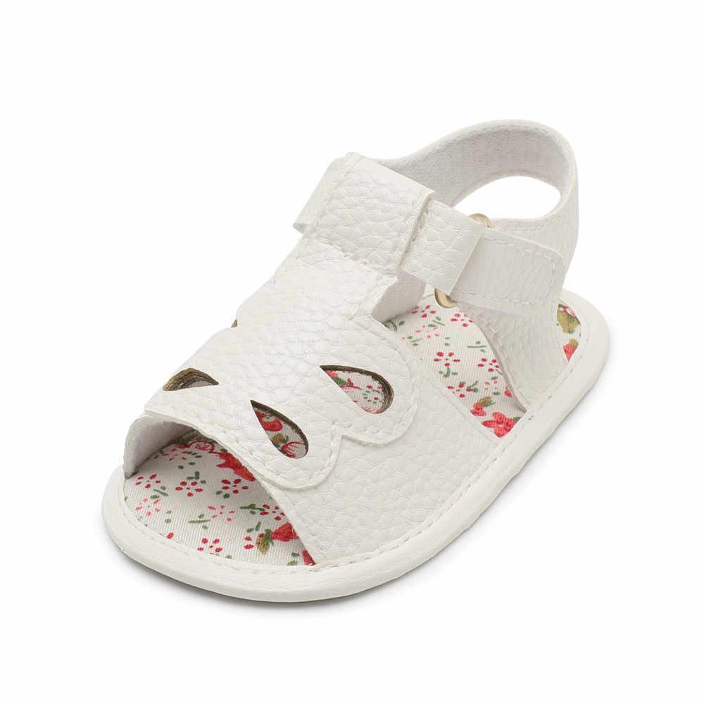 Solid เด็กทารกเด็กรองเท้าเด็ก PU หนังการ์ตูนรองเท้าผ้าฝ้ายนุ่ม Sole Anti-slip Hollow Prewalkers Bebek patik Sapato