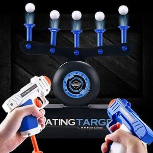 Air Shot Float Ball Shooting Game Shoot Target Toy For Children Electick Hand Short Gun Pistol Toy Sniper Holster Ball Shoot