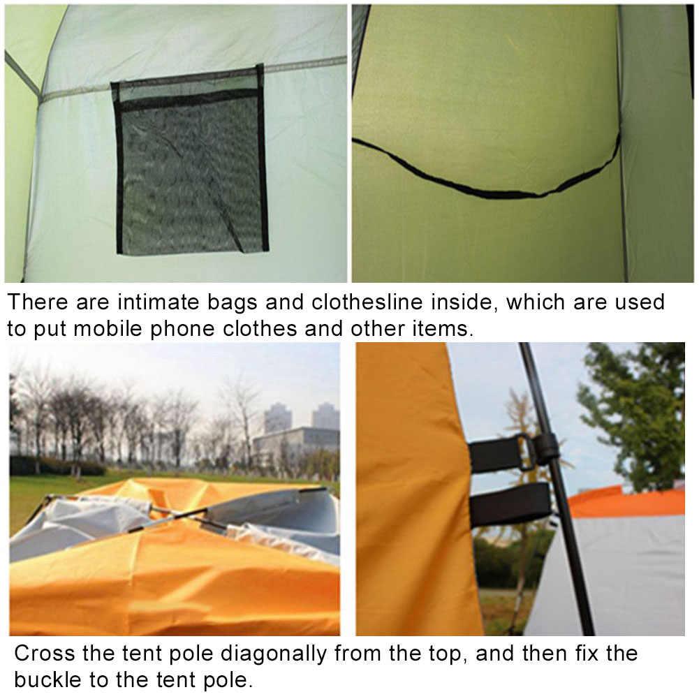 Taşınabilir su geçirmez açık çadır kamp plaj duş soyunma odası barınak özel kaplamalı kumaş blokları zararlı UV ışınları,