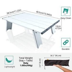 Image 2 - Taşınabilir katlanabilir katlanır masa danışma kamp açık piknik 6061 alüminyum alaşım Ultralight