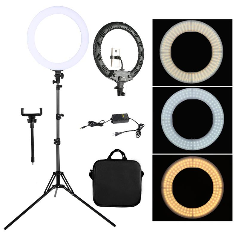WalkingWay 18 inch LED Ring Light with Tripod Dimmable Photographic Lighting Studio Video light for tik Home v7 VC