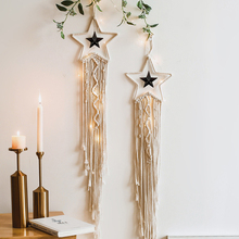 Bohemian Chic Macrame Wall Hanging Tapestry Moon Star Dreamcatcher Wall Decor Boho Woven Knitted Tapestries Home