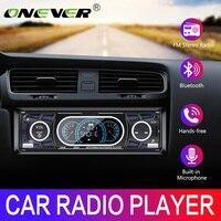 Onever Autoradio 1 Din 12V Bluetooth Autoradio LCD affichage Autoradio FM Aux entrée récepteur USB MP3 60W X 4 haute puissance sortie EQ