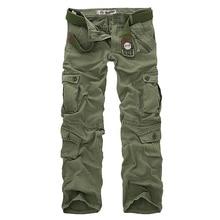 Hot Koop Gratis Verzending Mannen Cargo Broek Camouflage Broek Militaire Broek Voor Man 7 Kleuren