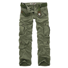 Hot sale free shipping men cargo pants camouflage trousers military pants for man 7 colors cheap MISNIKI CN(Origin) Pleated Cotton NONE Regular Full Length AXP86 Safari Style Midweight Broadcloth Zipper Fly Spring Autumn Winter