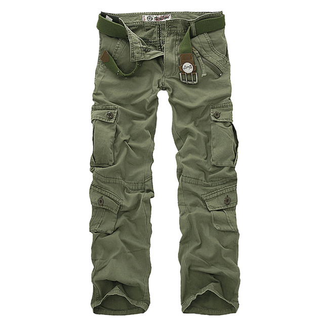 Men's cargo, camouflage, military pants