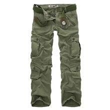 Sıcak satış ücretsiz kargo erkek kargo pantolon kamuflaj pantolon askeri pantolon adam için 7 renk