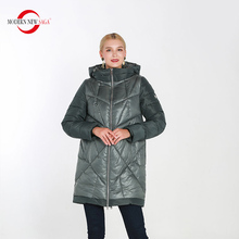 MODERN NEW SAGA 2019 New Winter Warm Parkas Thick Cotton Padded Overcoat Womens Female Long Style Jacket Fashion Hooded Coats