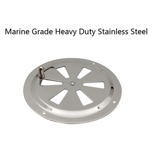 Image 5 - Stainless Steel 316 Marine Round Blower Louver Vent Cover Side Knob Opening 5 inch Air Louver Vent Boat Yacht Accessories
