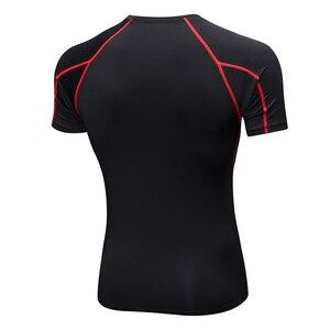 Image 2 - Acefancy 黒警官トップ圧縮ショート Leeve Tシャツためブルマストレッチトップス 71605 男性スポーツウェアジム服
