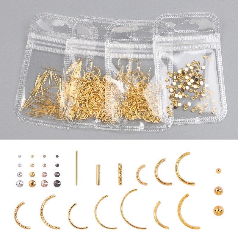 1 сумка 200-500 шт розовые, золотые, серебряные ногтей Шпильки для ногтей Запчасти украшение звезды круг Луна ногтей маникюрный салон