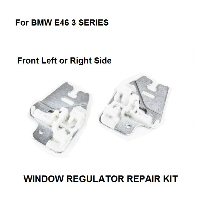 BMW E46 3 시리즈 윈도우 레귤레이터 용 윈도우 메탈 슬라이더 금속 슬라이더가있는 수리 클립 앞 우측 또는 좌측 98-13