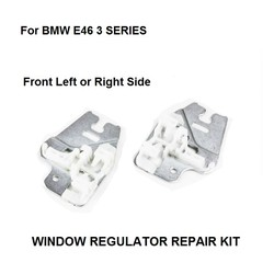 WINDOW METAL SLIDER FOR BMW E46 3 SERIES WINDOW REGULATOR REPAIR CLIPS with METAL SLIDER FRONT RIGHT or LEFT 98-13