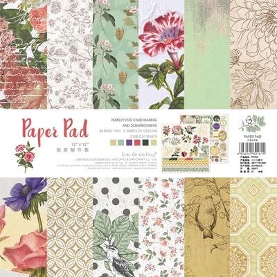 Nuevo Craft Paquete De 25 hojas de 12x12 Tarjeta Scrapbooking 300gsm de espesor