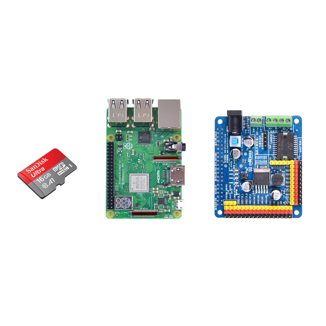 2GB RAM Raspberry PI Development Board With Expansion Board And 16GB Memory Card Model Educational Toy Gift For Child Kid Adult