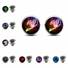 Anime Fairy Tail Ear Nail Fairy Tail Guild Marks Studs Earrings Anime Fairy Tail Jewelry Glass Cabochon Earrings Post gift fairy tail 15