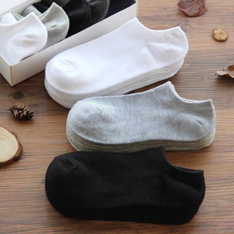 10 пар в комплекте; Женские носки воздухопроницаемые спортивные носки, однотонные Цвет лодка удобные носки из хлопка носки до лодыжки; Цвет б...