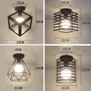 Image 5 - シーリングライト現代の天井ランプメタルロフト装飾ランプ工業用スタイル家庭の照明の寝室キッチンリビングルーム照明器具