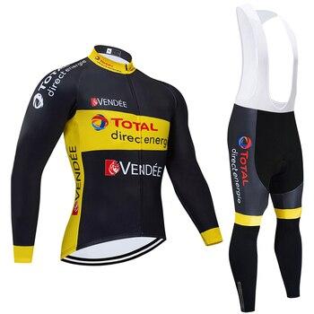 TEAM-pantalones de Ciclismo para hombre, Ropa térmica de lana para Ciclismo, Maillot,...
