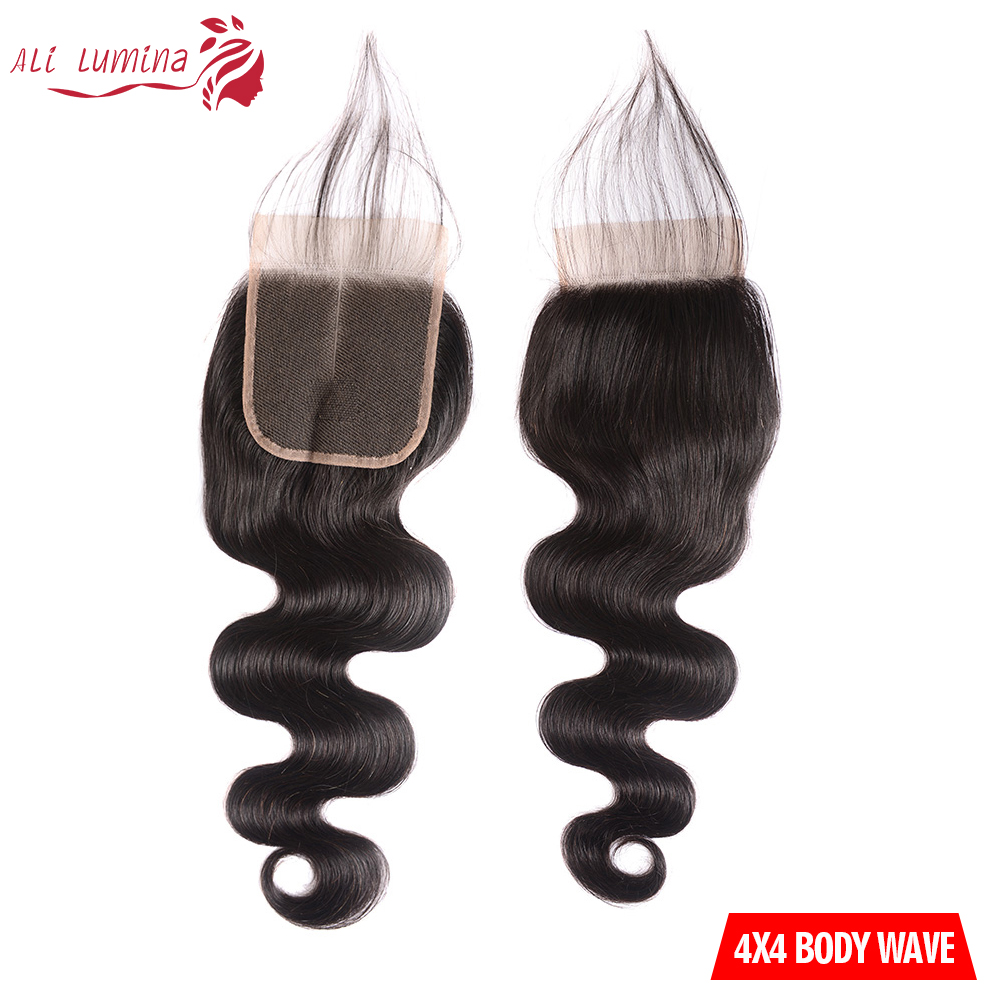 Body Wave Hair Bundles With Lace Closure Natural Color 100%   Bundles  Hair   2