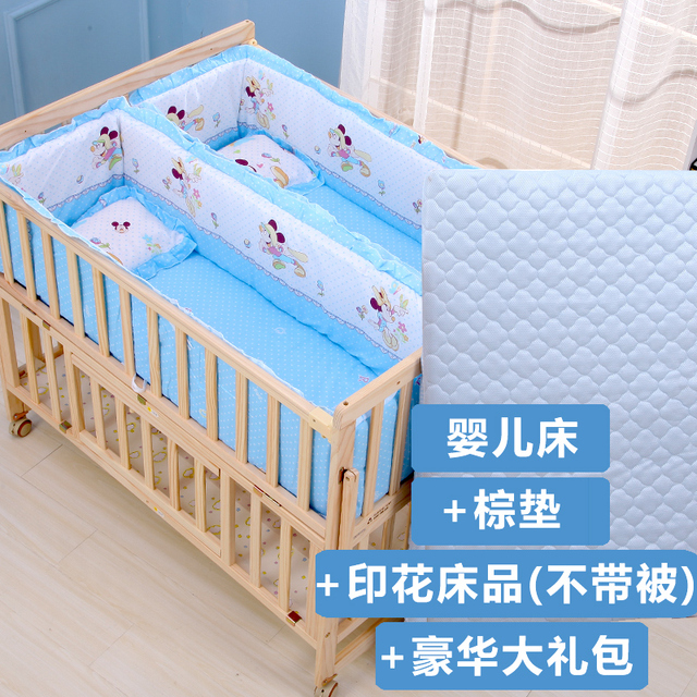 Купить двойная кроватка из цельной древесины лакированная двойная кровать картинки цена