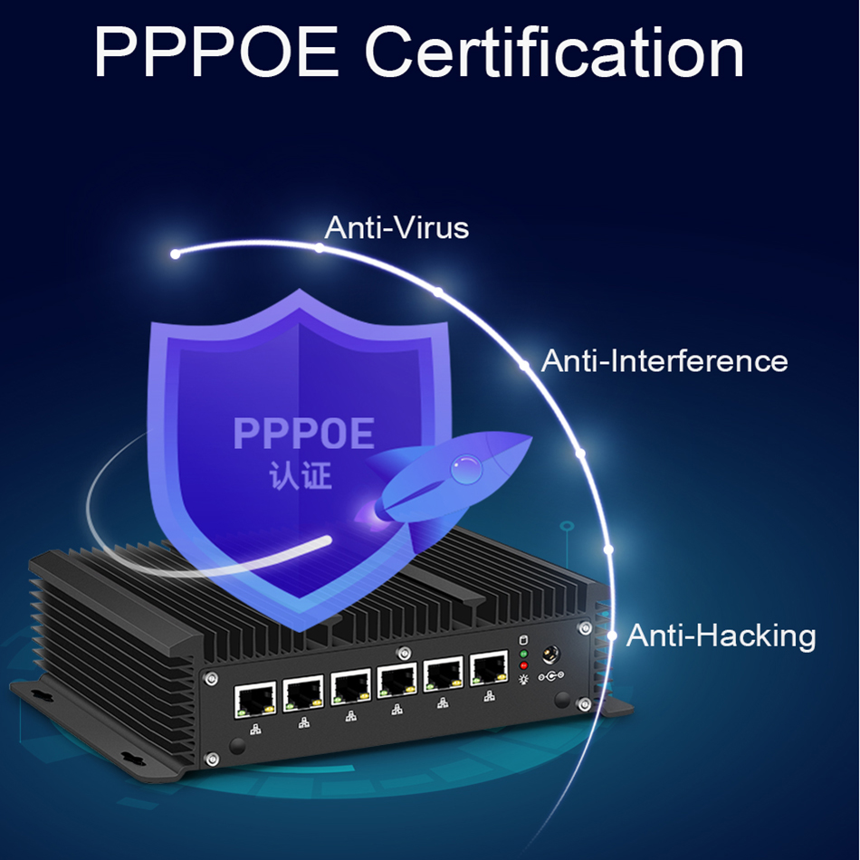 Mini-PC Intel Core i5 7200U i3 7100U i7 6 LAN 210at Gigabit-Ethernet HDMI 2 * RS232-Firewall-Router PFsense Aes-Ni Pocket Computer WLAN 6 Router Celeron 2955U 3865U 3965U Lüfterlos Windows 10 7 DDR3L Desktop Industrial