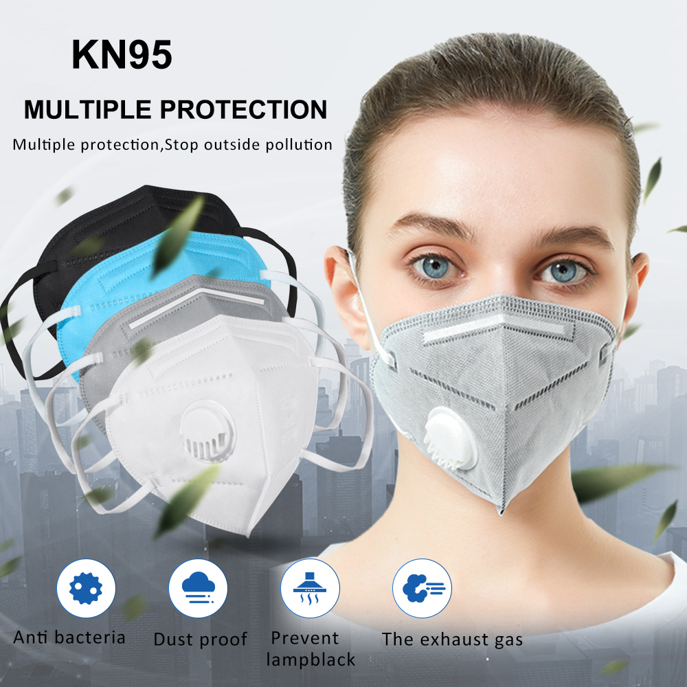 10PCS Breathable KN95 Mask Anti Dust KN95 Mask - Valved Face Respirator Reusable For Using Protection - Sanitary Convenient