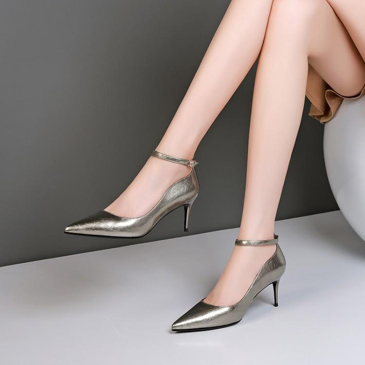 Spring and fall fine and single-shoe women's high-heeled shoes, high heels, high heels and women's shoes resin 6.5cm