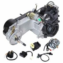 125cc 150CC GY6 4-Stroke Motorcycle Carburetor Carb Gas Engine Kit 5.2Kw/7000r/min For Scooter ATV Go Kart Scooter Moped glixal 26mm cvk carburetor carb with electric choke gy6 125cc 150cc scooter moped buggy 152qmi 157qmj atv go kart engine