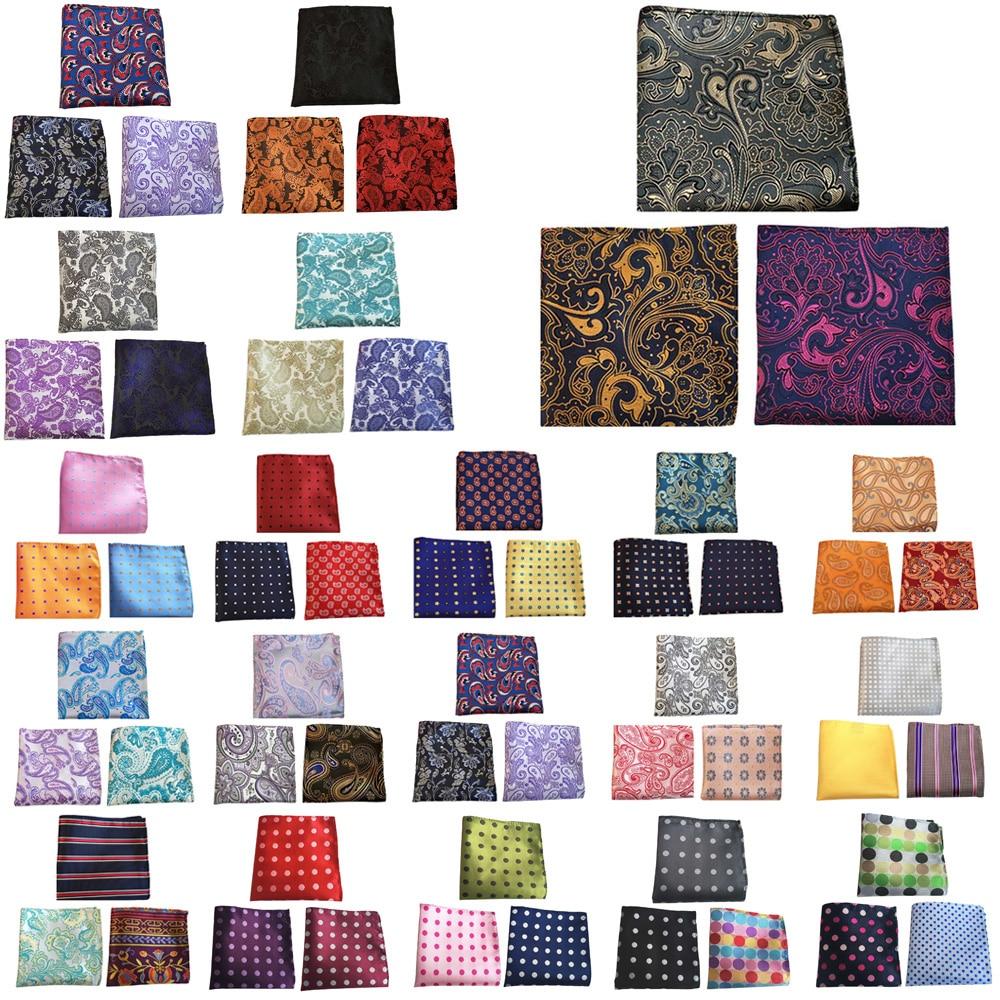 3 Packs Men Flower Paisley Stripe Pocket Square Wedding Party Handkerchief BWTHZ0372