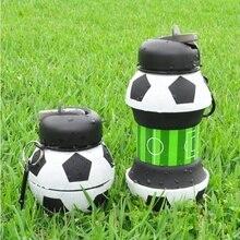 Новинка, футбол спортивная бутылка с соломинкой складываемый складной силиконовые для путешествий My Bottles Innovating Camping 550 мл H1224