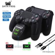 Dati Rana PS4 Controller Joystick Maniglia Dual USB di Ricarica Veloce di Ricarica della Stazione Del Bacino per Playstation 4 PS4 Pro Sottile stand