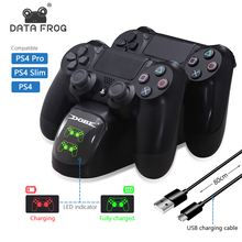 データカエルPS4 コントローラのジョイスティックハンドルデュアルusb充電スタンド急速充電ドックステーションプレイステーション 4 PS4 プロスリムスタンド