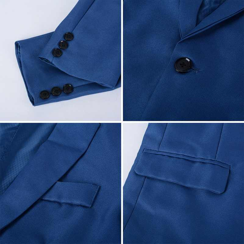 Mjartoriaホット販売メンズ韓国スリムフィットコットンブレザースーツジャケット黒青プラスサイズs 4XL男性ブレザーメンズコートウェディング
