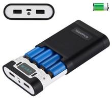 4x18650 чехол для зарядного устройства портативный внешний аккумулятор с 2 usb-портами и дисплеем питания для iPhone, iPad, samsung, LG, sony, MP4, psp