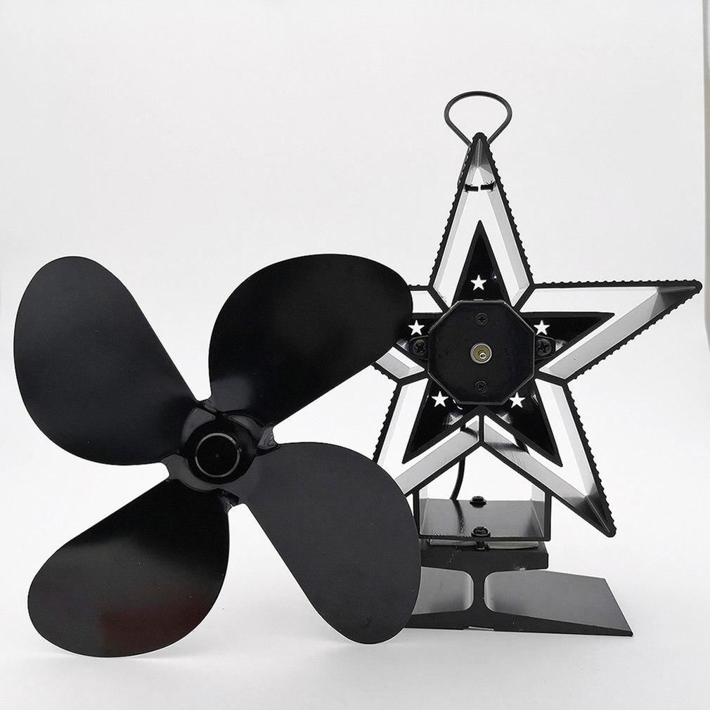 Вентилятор для камина 4 металлическими листьями, воздуходувки охраны окружающей среды энергосберегающая Тепловая Мощность вентилятор для