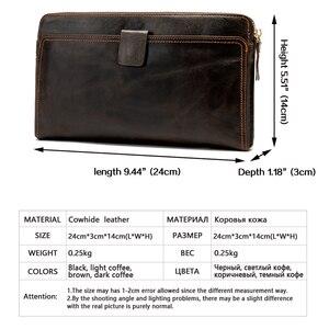 Image 2 - WESTAL portefeuille mâle en cuir véritable hommes portefeuilles pour porte carte de crédit pochette mâle sacs porte monnaie hommes en cuir véritable 9041