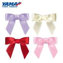 YAMA Wide 34mm±3mm High 29mm±3mm Shape Hand Bow 200pcs/bag Satin Plain Taffeta Ribbon Diy Flower Party Hair Bows Toy Wedding