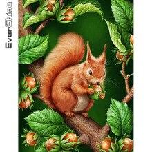Evershine diamante pintura esquilo ponto cruz kit 5d diy diamante bordado animal diamante mosaico árvore decoração da sua casa presente