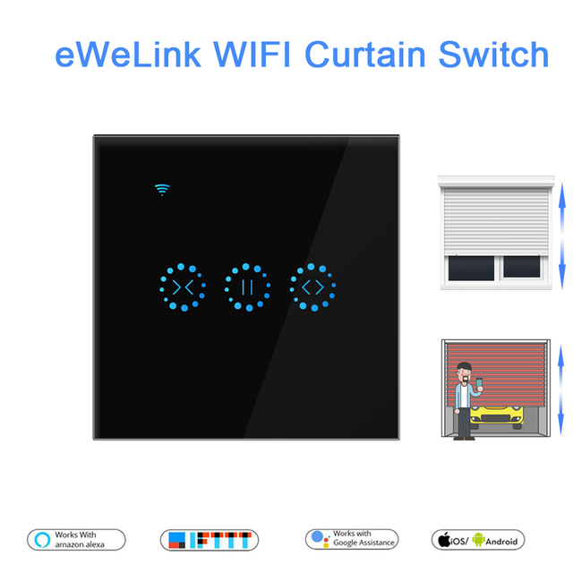 EWeLink EU US WiFiผ้าม่านสำหรับลูกกลิ้งชัตเตอร์มอเตอร์Google Home Echo Voice Control DIYสมาร์ทบ้าน