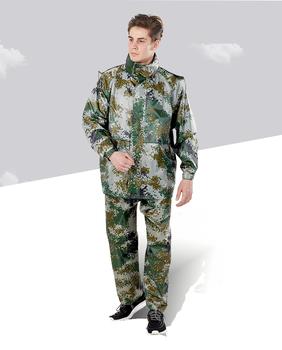 Mężczyźni kombinezon przeciwdeszczowy odkryty kaptur płaszcz przeciwdeszczowy motocykl kamuflaż płaszcz przeciwdeszczowy dwuwarstwowy nieprzepuszczalny Capa De Chuva sprzęt przeciwdeszczowy BE50rc tanie i dobre opinie NoEnName_Null CN (pochodzenie) Odzież przeciwdeszczowa Raincoats Single-osoby przeciwdeszczowa Oxford tkaniny Dorosłych