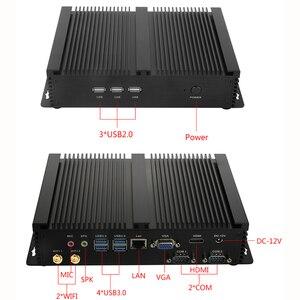 Image 4 - 2020 الصناعية بدون مروحة كمبيوتر مصغر ويندوز 10 برو i7 8565U i5 8265U i3 7100U 1 * Lan 2 * RS232 7 * USB واي فاي HDMI لينكس كمبيوتر مكتبي