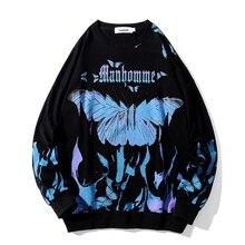 2021 primavera e verão padrão borboleta popular primavera e outono tops com capuz moletons masculinos e femininos da moda