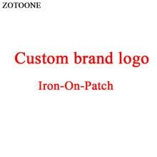 ZOTOONE Cartoon Character Patch Custom Brand Logo Iron on for Clothes DIY T-shirt Applique Heat Transfer Letter Sticker E
