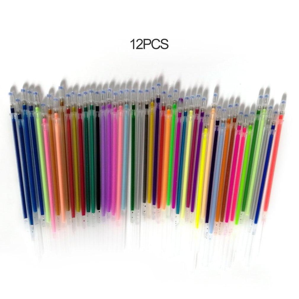 1,0 мм Цвет Фул гелевая ручка флуоресцентный для заправки зажигалок Цвет картридж флэш-памяти ручка гладкая живописи тушью в стиле «граффити...