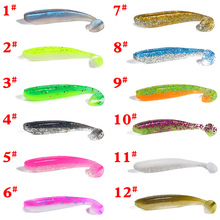 10pcs/lot 6.5cm 1.8g Wobblers Fishing Lures Easy Shiner Silicone Soft Bait With Salt Smell Double Color Swimbait Takcle