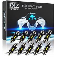 Dxz 10 pces c5w c10w lâmpadas led canbus Festoon-31MM 36mm 39mm 41mm csp 1860 nenhum erro carro interior dome luz de leitura 12 v/24 v