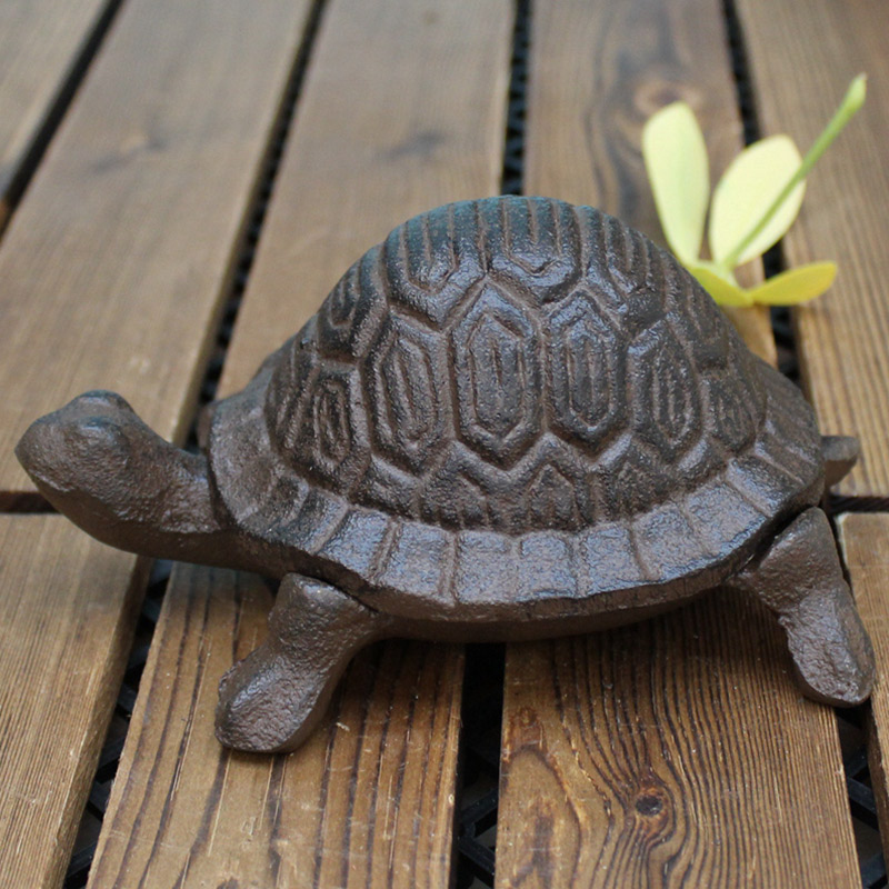 Key Safe Box European Cast Iron Storage Tank Creative Animal Style Hidden Holder Home Garden Decoration Ornaments